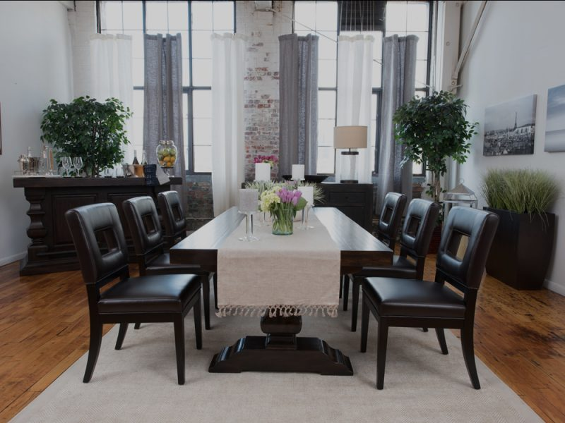 leather-dining